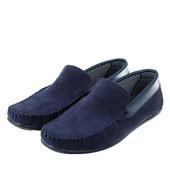 Мокасины мужские стильная модель. Синие, черные.