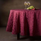 Роскошное довершение праздничного стола - жаккардовая скатерть от Tchibo, Германия