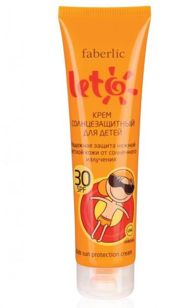Крем солнцезащитный для детей spf 30 серии leto фото №1