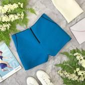 Короткие шорты небесно синего цвета  SR1821172