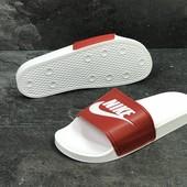 Мужские шлепанцы Nike white/red