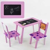 Столик со стульчиками МИНИ  (С 065) с меловой поверхностью