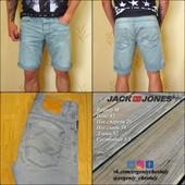 В наличии Летние мужские голубые джинсовые шорты Jack&Jones