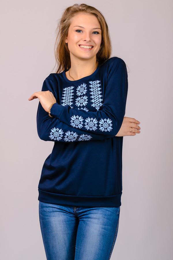 Женский трикотажный свитшот вышиванка , р-р 48, 50,52 фото №1