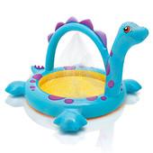 Бассейн детский Intex 57437, динозаврик с душем, 229-165-117 см