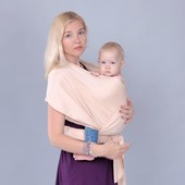 Трикотажный слинг-шарф латте, слинг