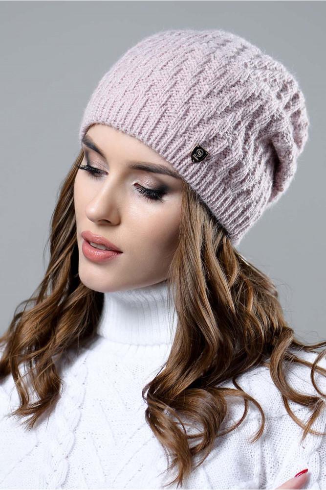 Женская пудровая шапка фото №1