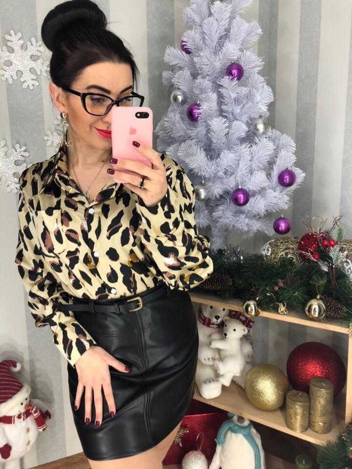 Блуза с леопардовым принтом фото №1