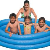 Надувной детский бассейн Intex 59426 Кристалл интекс, диаметр 147 см.