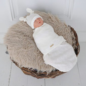 Пеленка кокон на липучках шапочка, Wind 3-6 месяцев