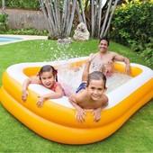 Детский семейный бассейн 57181 Intex Мандарин. 229-147-46см