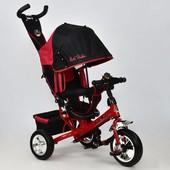 Велосипед 6588 - 1570 Best Trike красный, колесо пена, переднее d 25см. задние d 20см