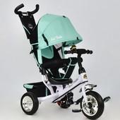 Велосипед 6588 - 0120 Best Trike бирюзовый, колесо пена, переднее d 25см. задние d 20см