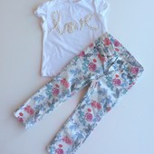 1,5-2 г джинсы в цветочный принт H&M