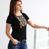 Вышиванка женская, футболка,  вишиванка жіноча, р-р 44-52