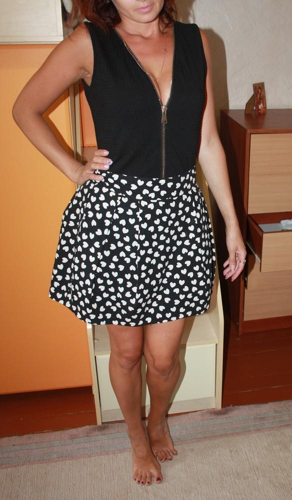 Красивая юбка в сердечки фото №1