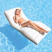 Надувное кресло шезлонг для плавания Волна Intex 56861: размер 193x102см