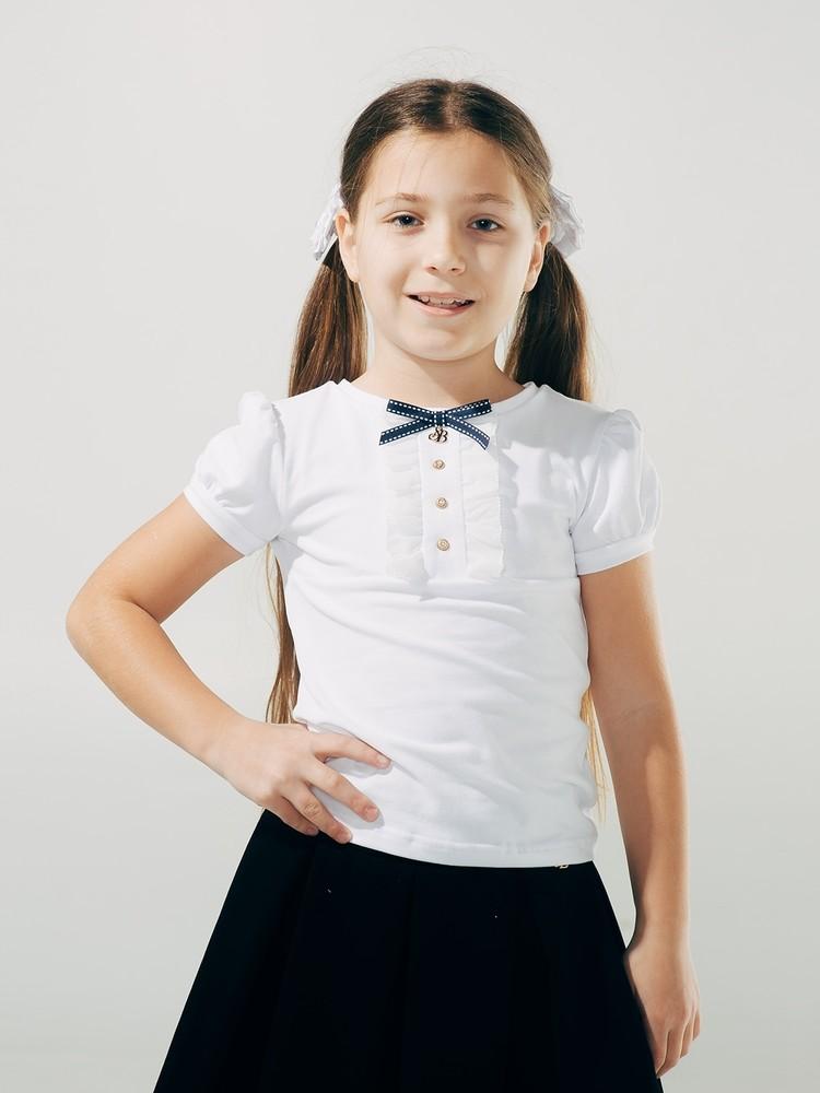 Школьная форма, smil, блуза с декоративной планкой , короткий рукав фото №1