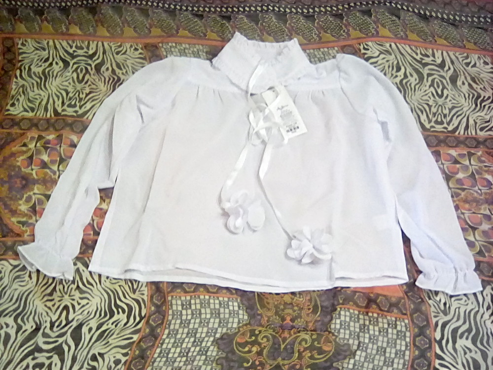 3d580cc1657 Наличие распродажа albero 128 белая блузка рубашка школьная форма фото №1