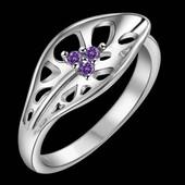 Изысканное женское кольцо Листик р 17,5