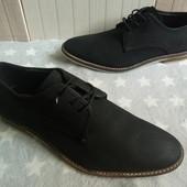 Am Shoe Company Туфлі із нубуку 40 рр і устілка 28 см.