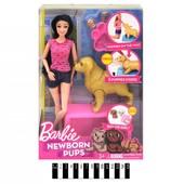 Кукла типу Барби с собакой, щеночками,аксессуарами KQ060