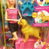 Кукла типу Барби с собакой, щеночками,аксессуарами KQ060, F057