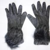 Кашемировые перчатки р.S-M (сост. новых)