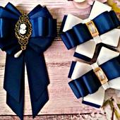 брошь галстук бантики школьный набор