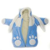 Зимний конверт на меху для новорожденного мальчика, 56-68 см