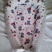 Кокон-гнёздышко с плюшем minky