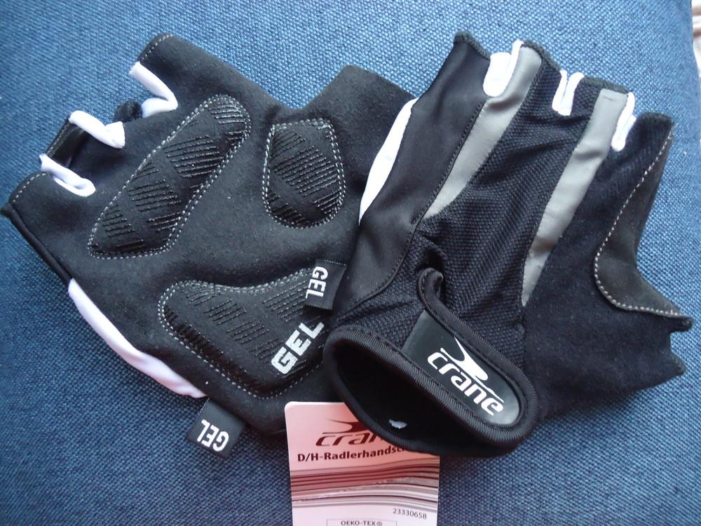 бронь! Перчатки для спорта велоспорта с гелем Crane Германия, р. 8,5 фото №1