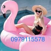 Плот матрас огромный надувной Розовый Фламинго 200 см