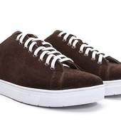 Коричневые мокасины с белой подошвой BFG Moda.shoes- 015. фирменная Турция
