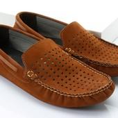 рыжие мокасины с перфорацией BFG Moda.shoes- 022. фирменная Турция