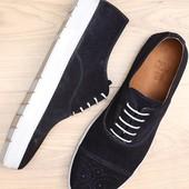 темно-синие замшевые спортивные туфли BFG Moda.shoes- 029. фирменная Турция