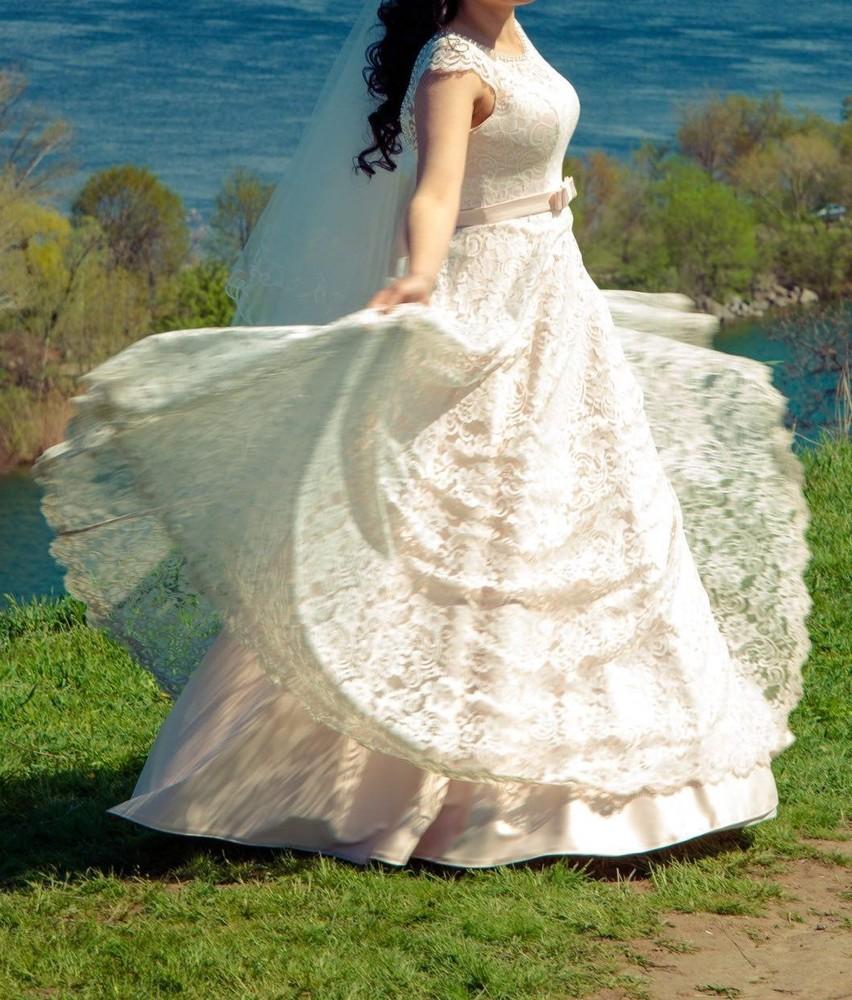 Платье свадебное «трюфель» (размер 42-46 (s-m)) фото №1