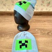 Яркая вязаная шапка для мальчиков 46-50 размер
