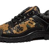 Ботинки-Кроссовки утепленные мехом - камуфляжные (КБ-16)