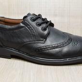 Туфли мужские повседневные на шнуровку (WD-6703)