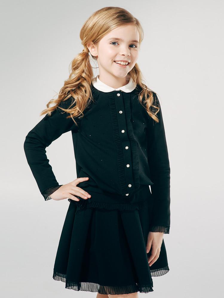 -20%школьная форма. smil, жакет школьный черный, с декором фото №1