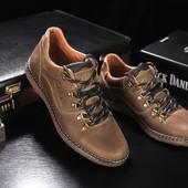 Мужские кожаные повседневные ботинки Clarls, код gavk-655-1