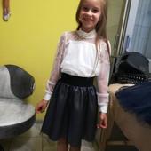 Шикарная юбка в школу на девочек!!
