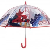 Perletti. Зонтик Spider-Man прозрачный, детский зонт человек паук