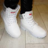 Женские зимние белые ботинки. Р.37-41