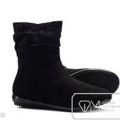 Ботинки женские черные зима  36р-22,5см стелька