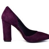 Туфли женские замшевые на каблуке Ando&Borteggi