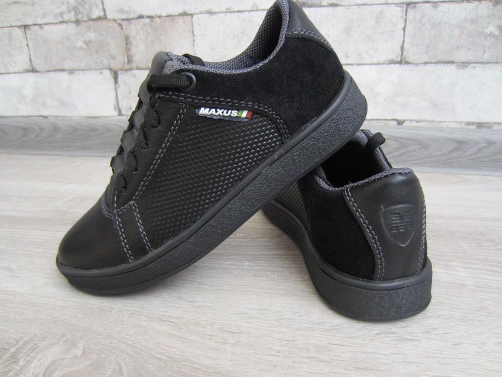 Кожаные черные комфортные туфли на скрытой шнуровке 32-39 р фото №9