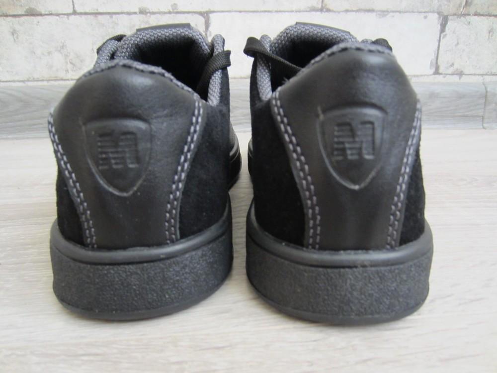 Кожаные черные комфортные туфли на скрытой шнуровке 32-39 р фото №7