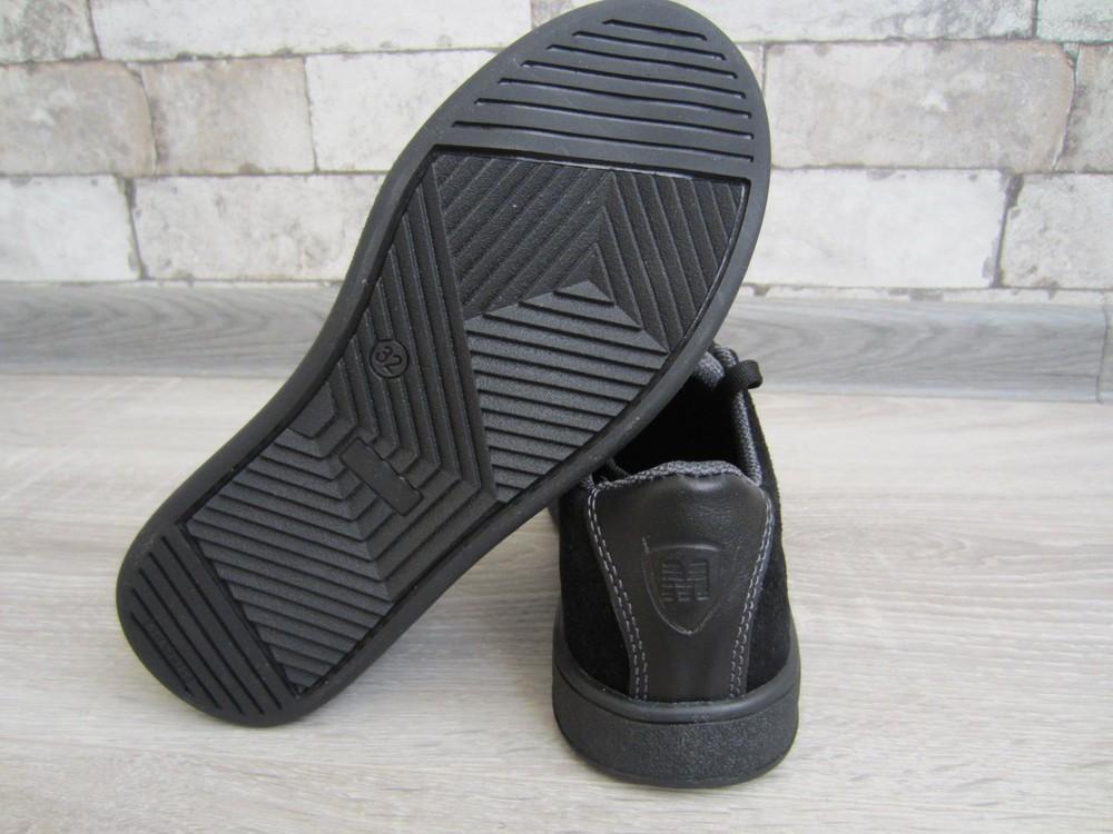 Кожаные черные комфортные туфли на скрытой шнуровке 32-39 р фото №8
